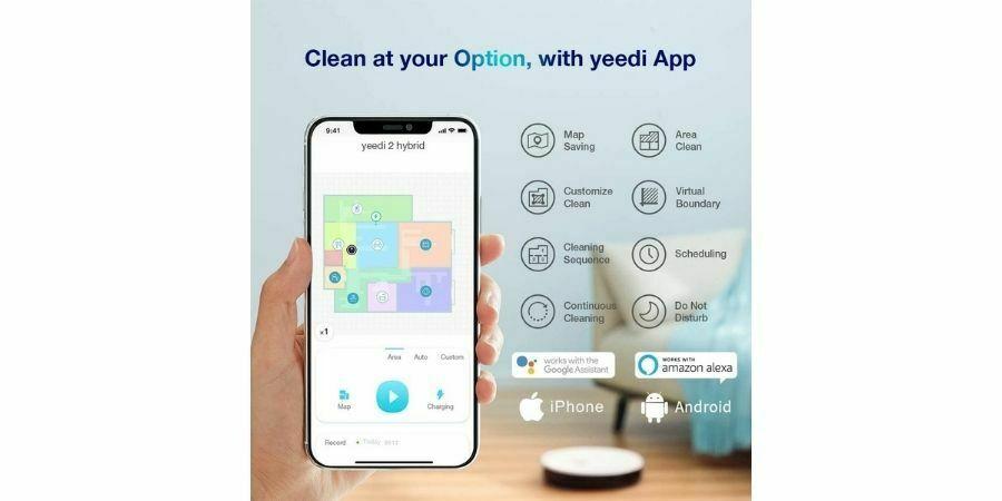 Yeedi 2 Hybrid aplicación propia google home alexa